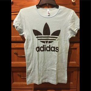 Adidas logo blue t-shirt